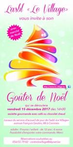 Goûter de Noël Le Village 2017 affiche
