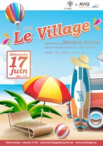 affiche barbecue le Village 2018