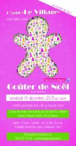 Goûter de Noël Le Village 2018 version définitive
